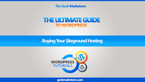 Video 11 – Buying Your Siteground Hosting