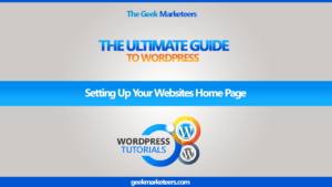 Video 29 – Setting Up Your Websites Home Page