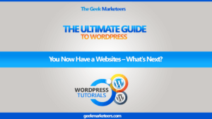 Video 30 – You Now Have a Website – What's Next?